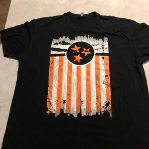 Next Level Mens Black Tennessee Flag Tee Shirt